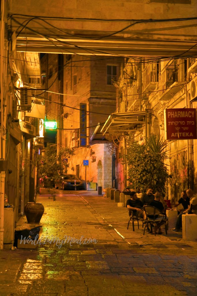 Urban photography: night in Old Town Jerusalem