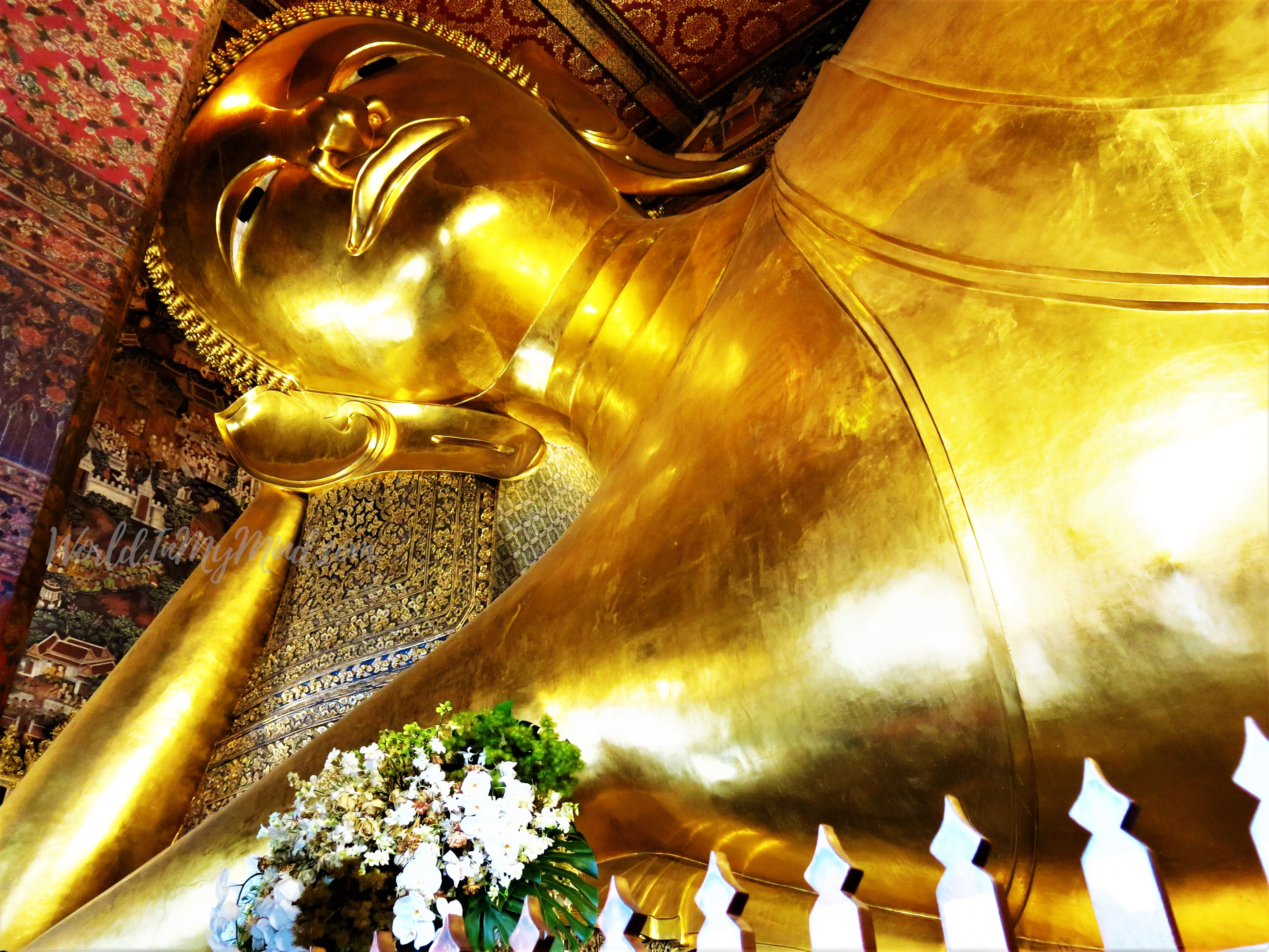 Wat Pho in Bangkok. Temple of Reclining Buddha