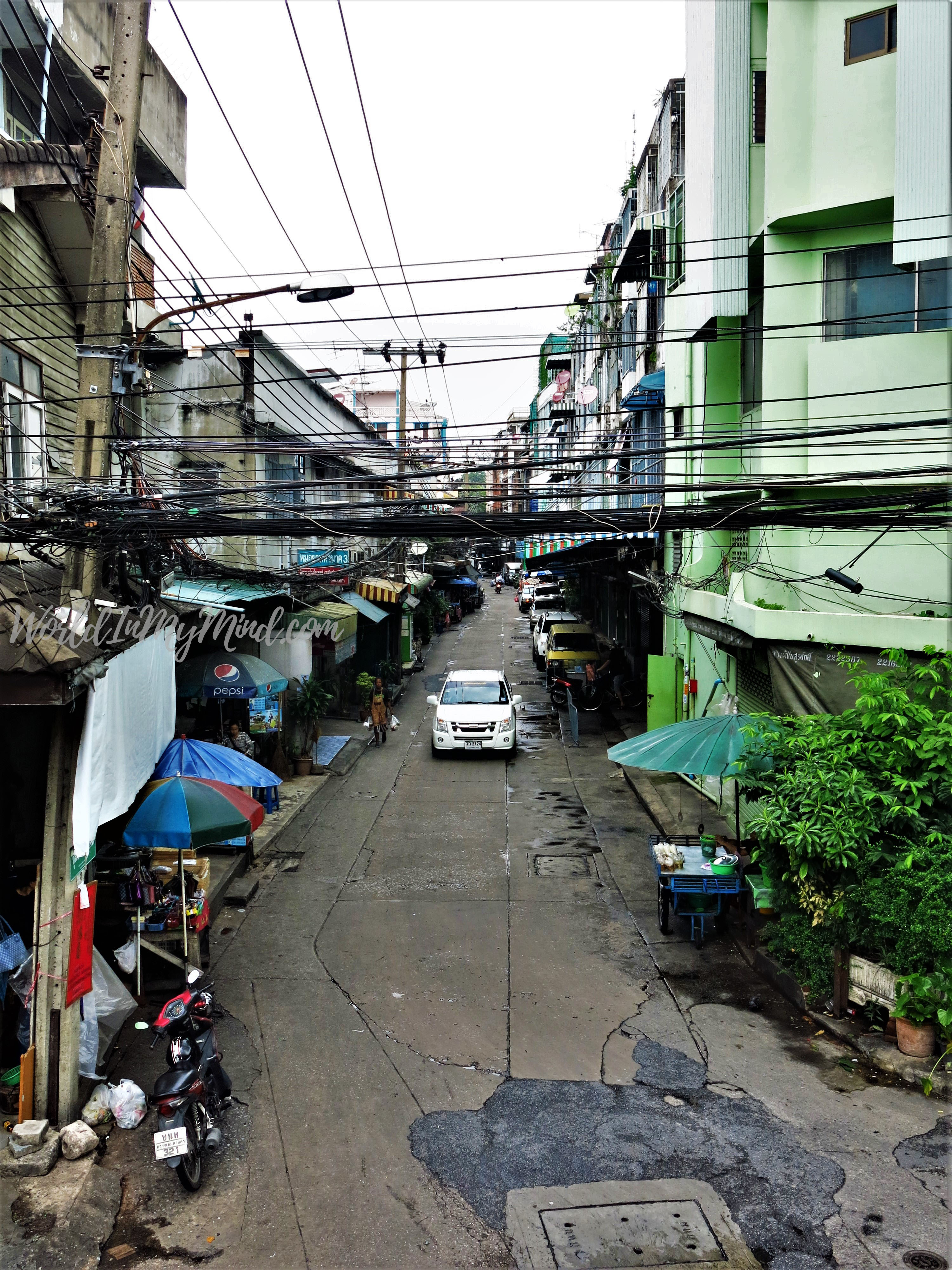Urban photography: a street in Bangkok