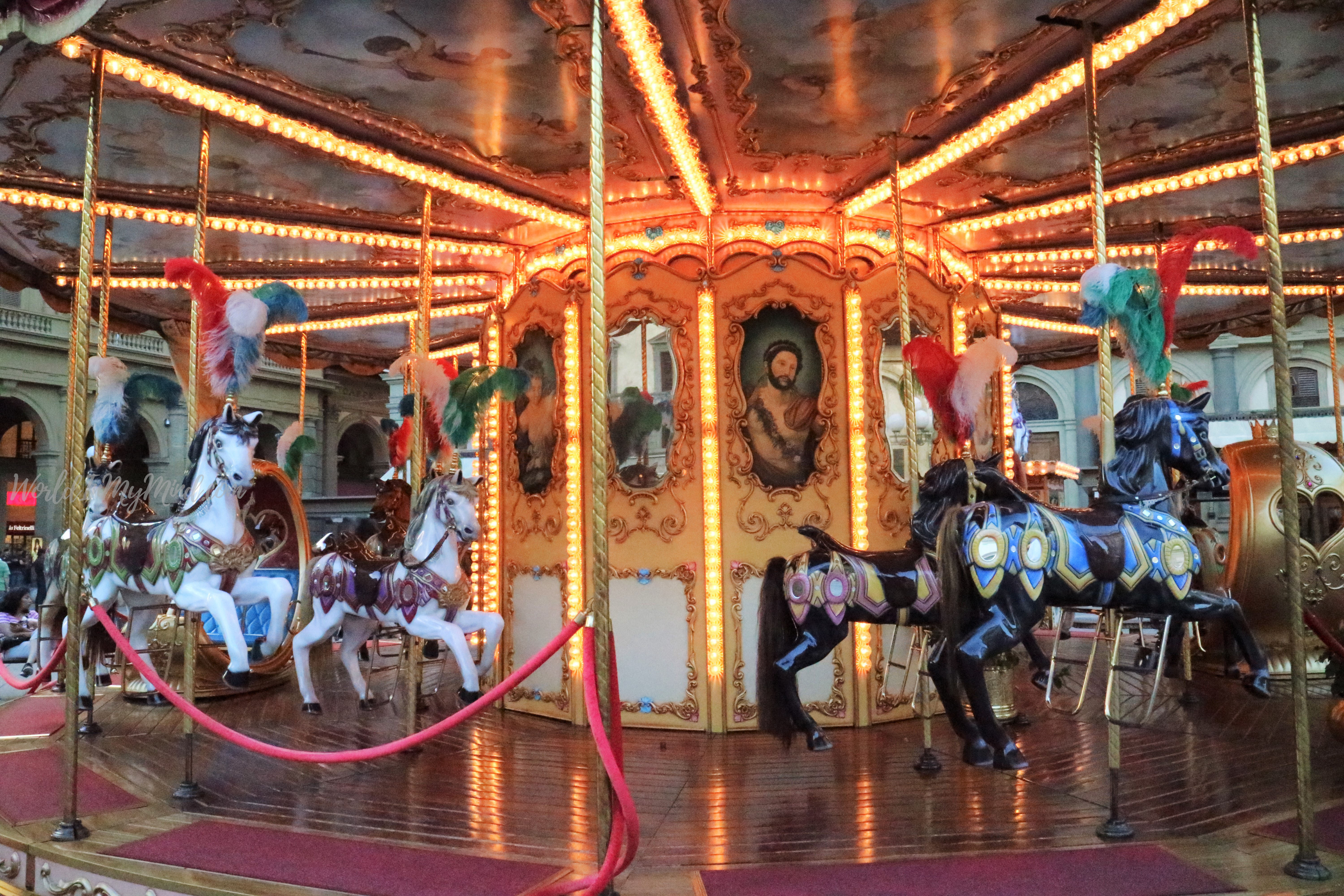 Urban photography: carousel, Florence, Italy