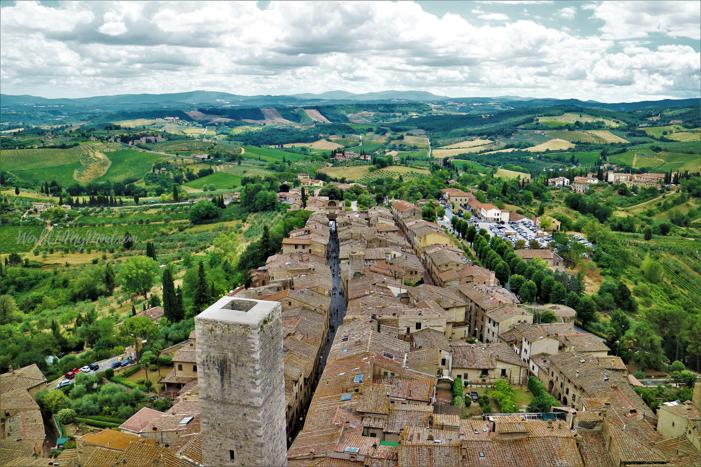 A view of San Gimignano, Tuscany, Italy