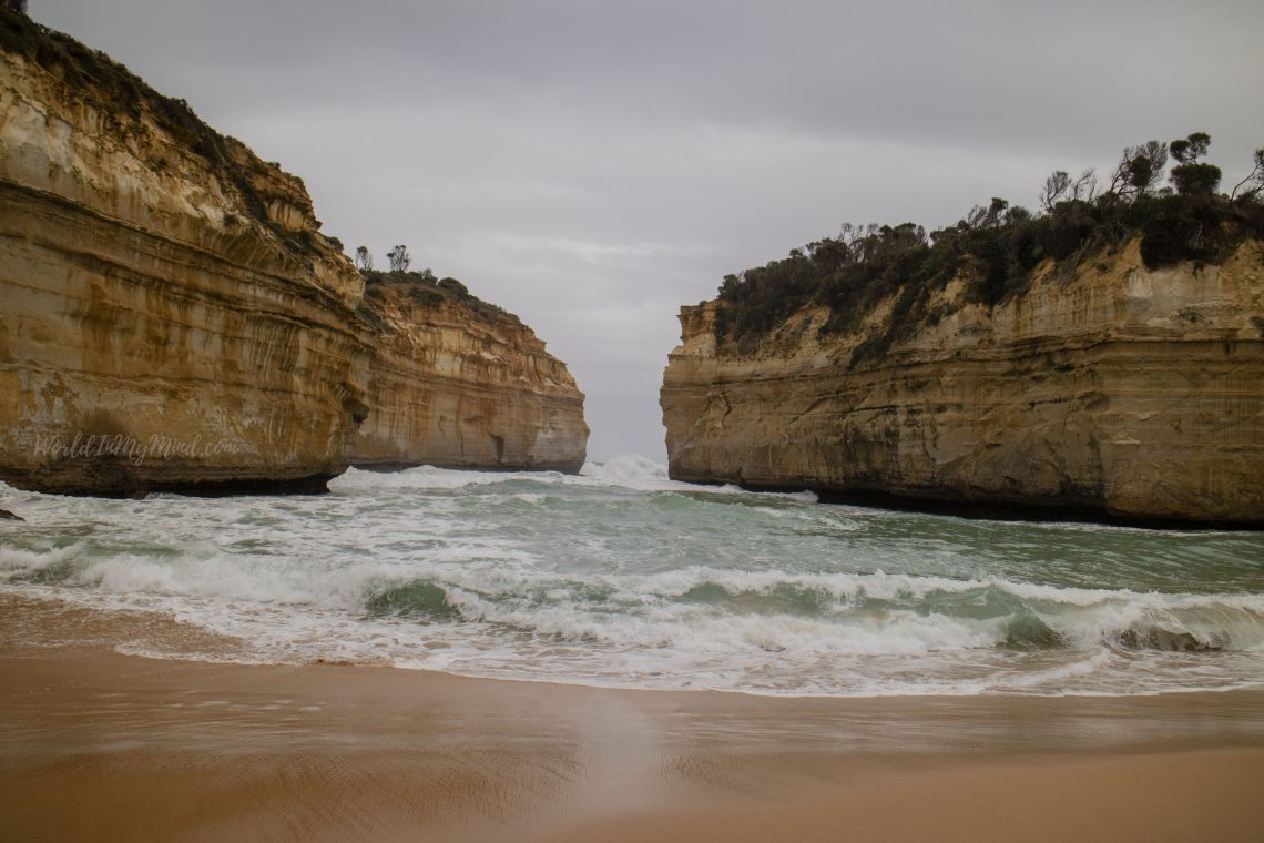A stormy beach on the Great Ocean Road, Australia
