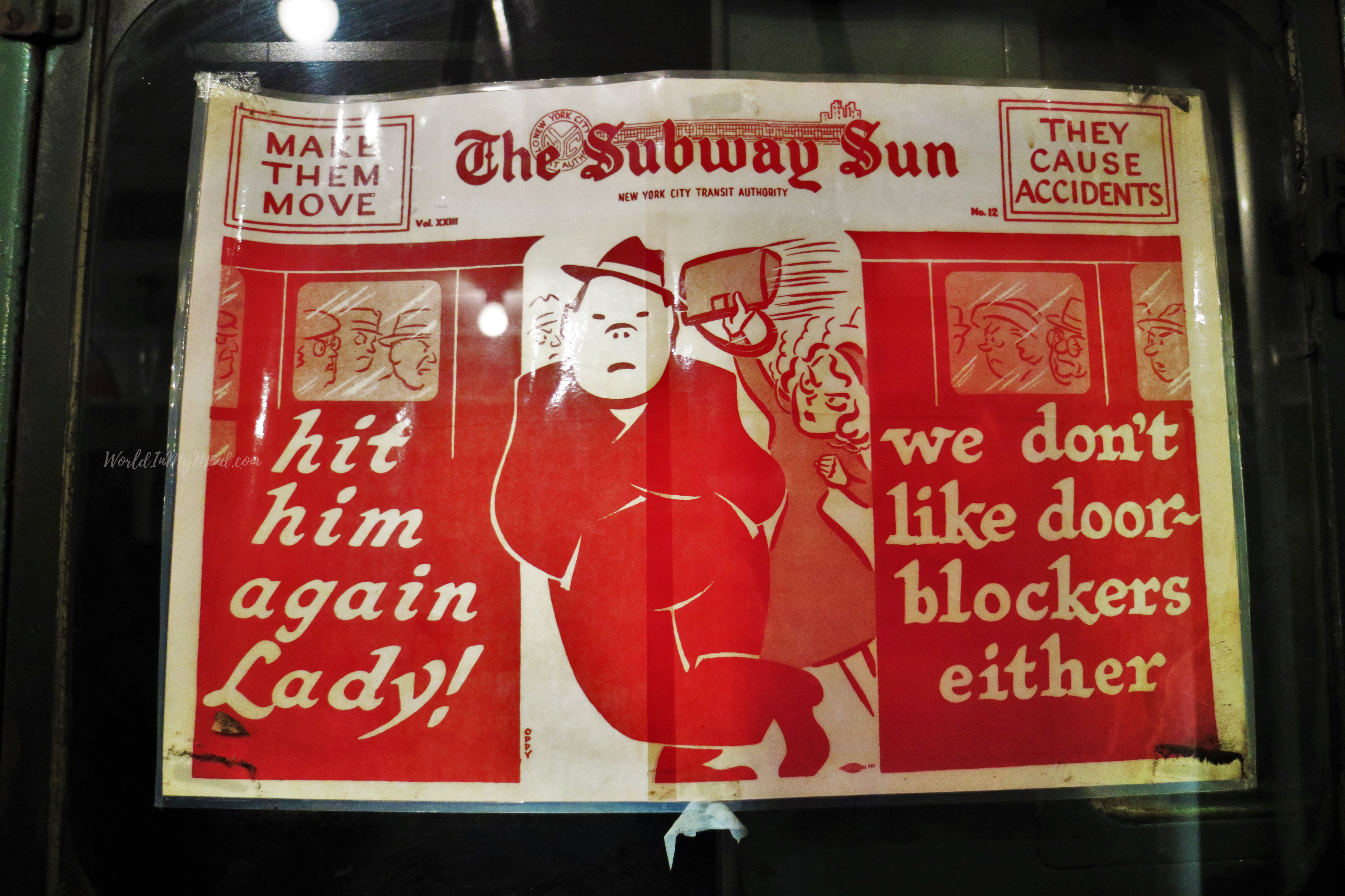 Vintage subway ad, New York