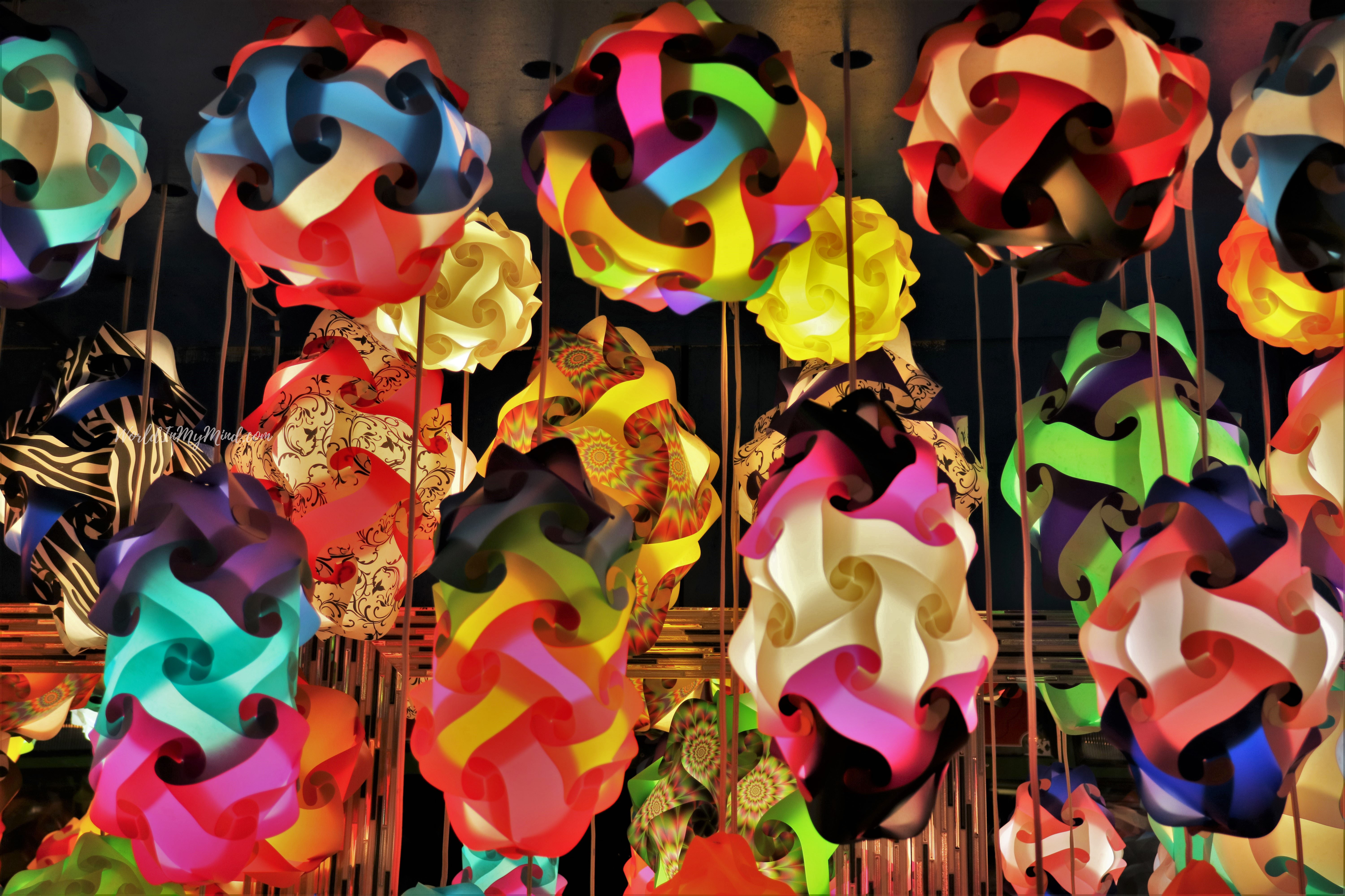 Colorful lamps in New York City