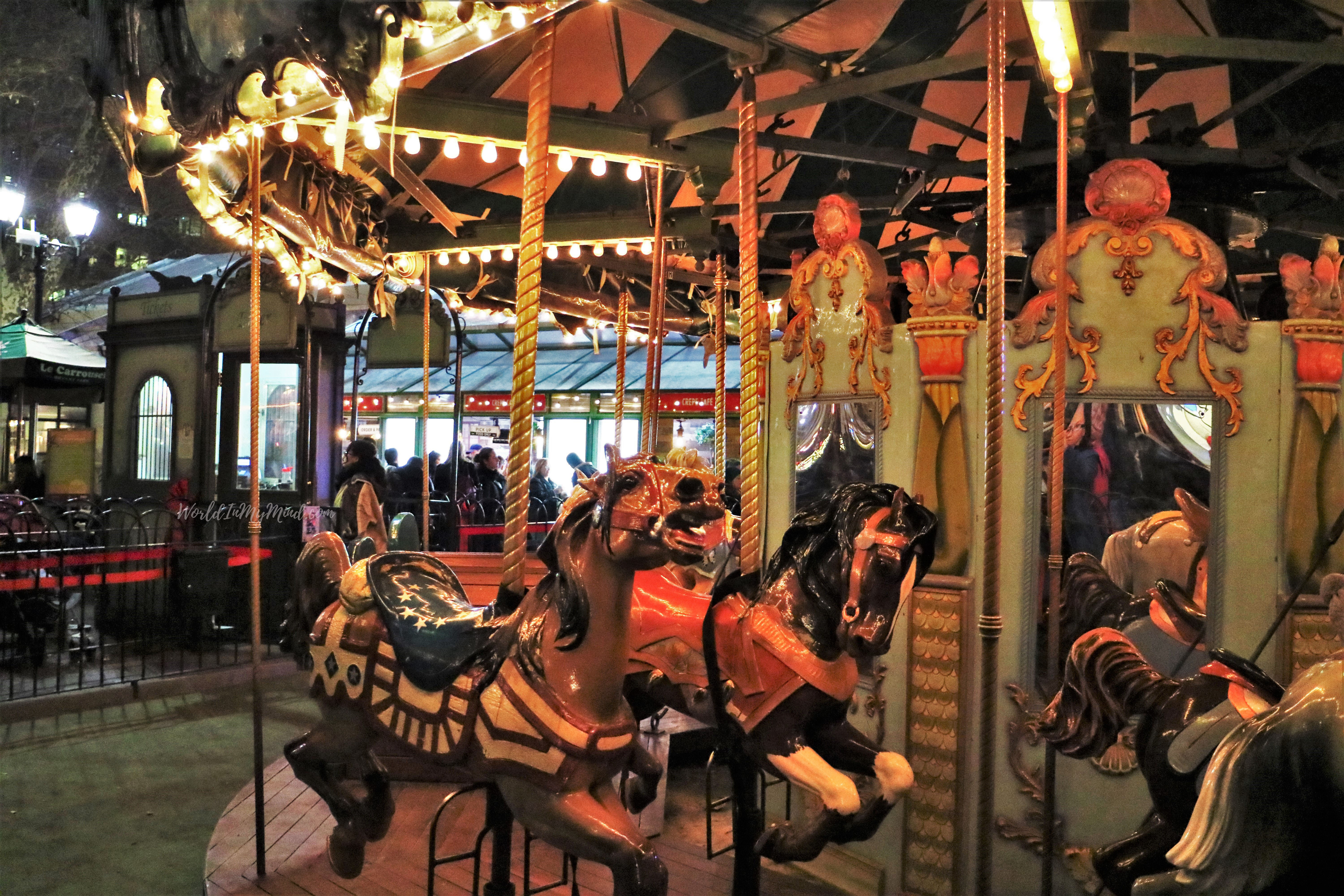 Carousel in Bryant park, New York