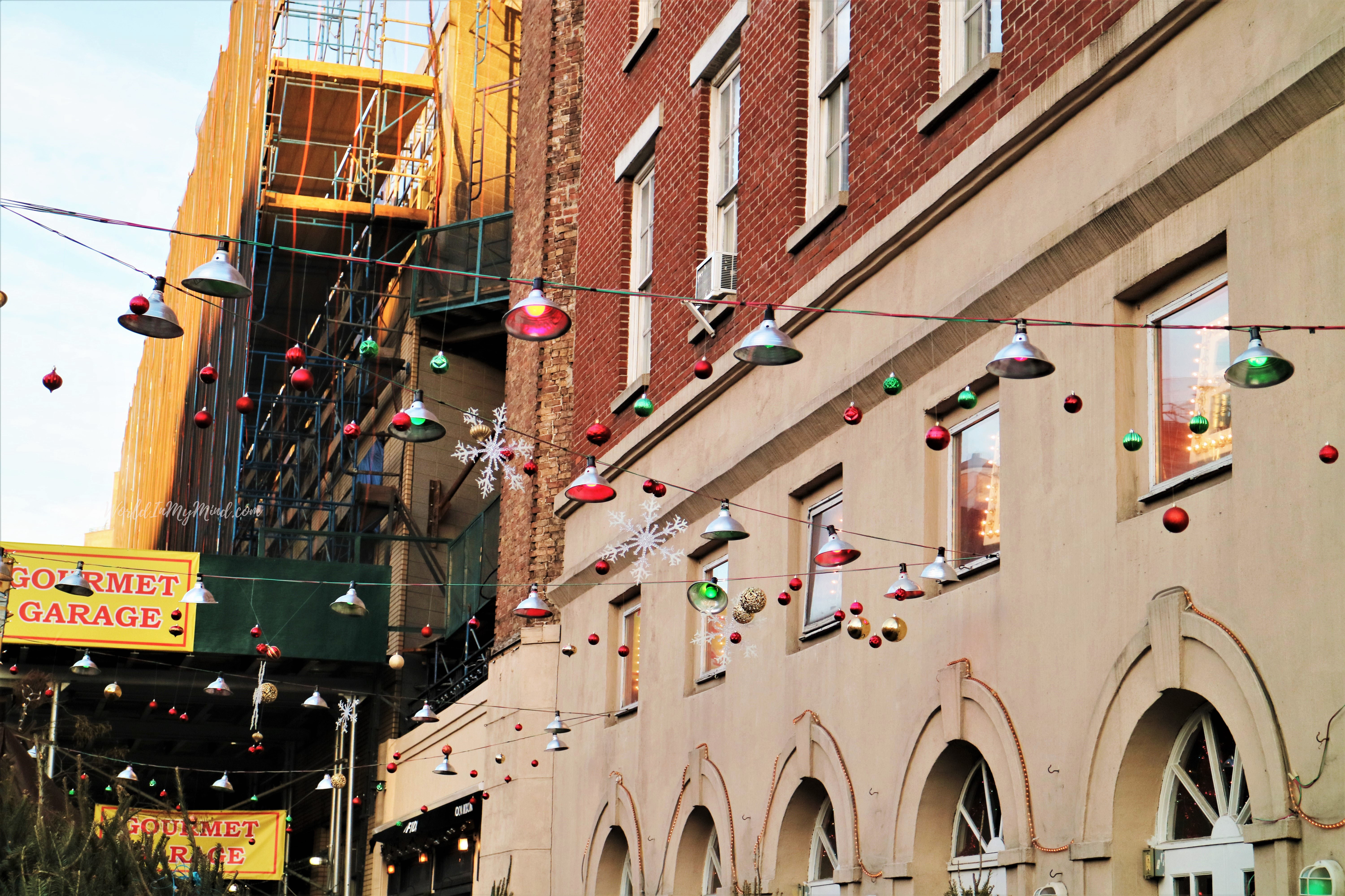 Christmas street decoration in New York